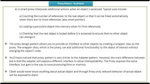 Proxy Design Pattern C Proxy Design Pattern Keypoints