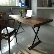wood desks for home office. American Country Wrought Iron Wood Computer Desk Home Office Study Laptop Table Desks For C