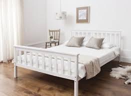 DENVER WOOD KING SIZE BED FRAME IN WHITE The Denver bed frame is an ...