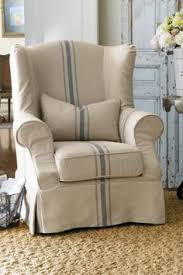 Slipcovered Tristan Chair Chair slipcovers Wingback chairs and Modern