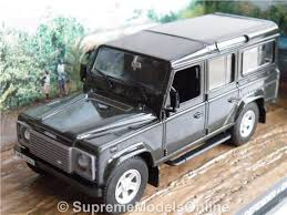 LAND ROVER DEFENDER MODEL CAR 1:43 SIZE JAMES BOND COLLECTION GREY CASINO  T3Z