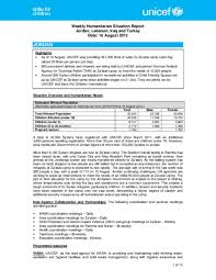 Situation Report Document UNICEF Syria Crisis Weekly Humanitarian Situation Report 19