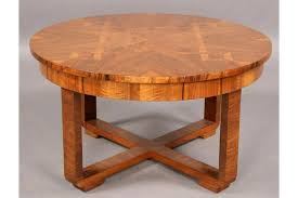 antique round coffee table decor innovative good art deco vintage round inlaid coffee table 900