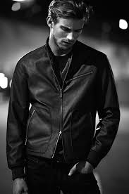 armani exchange 2016 spring summer campaign 005 rj king wears a leather jacket