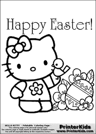 Hello kitty (full name kitty white) is a fictional character produced by the japanese company sanrio. Hello Kitty Happy Easter Huge Egg Flowers And Bird Coloring Page Preview Hello Kitty Colouring Pages Free Easter Coloring Pages Hello Kitty Coloring