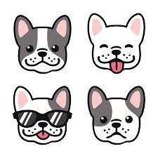cute french bulldog clipart. Simple French French Bulldog Hand Drawn Cartoon Face Set Cute Frenchie Puppy Drawing  Vector Illustration To Clipart U