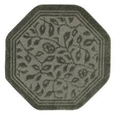 mohawk home wellington 6 octagon bath rug in sage green