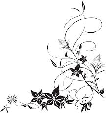 花のイラストフリー素材白黒モノクロno413白黒秋