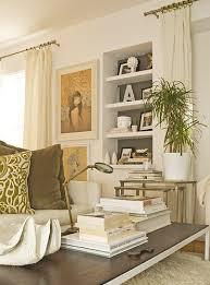 impressive ideas off white living room walls built in bookshelf