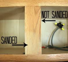 sanding cabinets with captivating tip how to stain kitchen sanding without stain full size