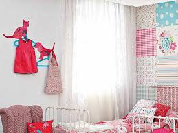 kids bedroom for girls blue. White And Red-pink Color Scheme With Light Blue Accents, Dogs Cats Wall Decoration, Creative Kids Bedroom Ideas For Girls