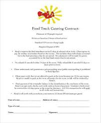 food catering contract form wedding catering contract sample