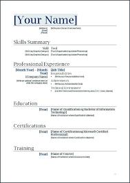 Sample Resume Templates Word Document 11410 Butrinti Org