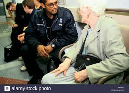 Hospital Security Guard A Security Guard At Kings College Hospital In London Talks To An