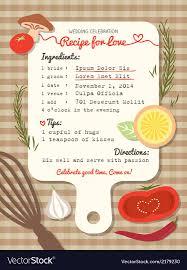 Recipe Card Creative Wedding Invitation Design