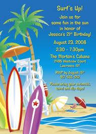 Beach Invitation Surfs Up Beach Invitation