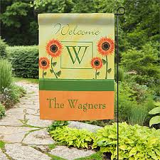 garden flags. Personalized Garden Flag - Summer Sunflowers 11220 Flags Personalization Mall