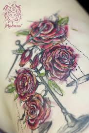 Tetování Z Růží Váhy Tattoo Tetování Tattoo