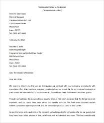contract letter contract termination letter template free sample example format