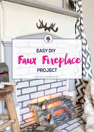 easy diy faux fireplace tutorial