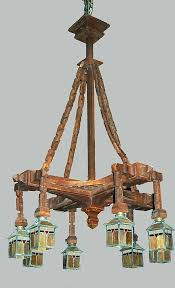 carved wood chandelier chandelier carved wood craftsman arts crafts stained glass shades hand carved wood chandeliers