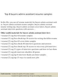 Buyers Resumes Top 8 Buyers Admin Assistant Resume Samples