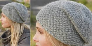 Free Slouch Hat Knitting Patterns Enchanting Mossing Knitted Slouch Hat [FREE Knitting Pattern]