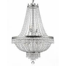 french empire 14 light swarovski crystal silver chandelier