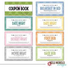 Printable Customized Valentines Day Coupon Book Gift Last Minute