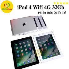 Máy Tính Bảng iPAD 4 - 32Gb (4G + Wifi) - Màn Rentina Đẹp 99% - Pin Cực  Khỏe - Loa To - Tặng Đủ Phụ Kiện chính hãng 3,090,000đ