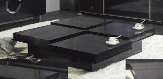 ... Black Expandable Modern Square Coffee Table ...