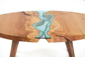 unique wood furniture round river coffee table from big unique wooden garden furniture uk