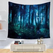 polyester tapestry 3d printed forest wall decoration blankets beach towel mandala tapestry wall hanging tapiz hippie tapestries oriental tapestry wall