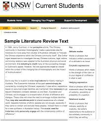 best literature review sample ideas thesis  sample literature review text