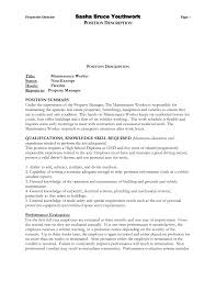 Maintenance Job Resume Maintenance Worker Resume 24 Building Cover Nardellidesign 7