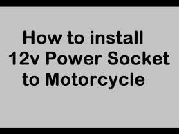 how to install v power outlet to motorcycle cigarette lighter how to install 12v power outlet to motorcycle cigarette lighter tutorial honda