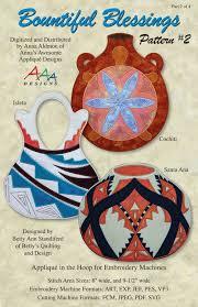 Machine Applique Designs Amazon Com Bountiful Blessings 2 Native American Pottery
