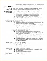 Business Resume Objective Basic Resume Objective Template Business