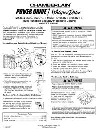 chamberlain 953c owner s manual pdf