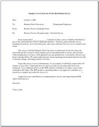 Sample Questionnaire Cover Letters Cover Letter For Survey Questionnaire Template Letters