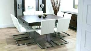 full size of 8 seat table square dining for alluring modern dark wood set glass decor