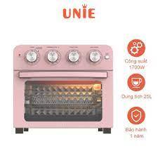 Lò nướng kiêm nồi chiên không dầu UNIE Q37 1700W, dung tích 25L, màu hồng -  Hàng chính hãng - Lò vi sóng