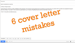 American Resume Cover Letters 6 Common Cover Letter Mistakes Sportscasters Talent Agency