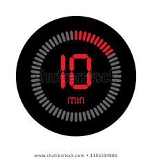 Ten Minutes Countdown 10 Minutes Stopwatch Vector Icon Digital Stock Vector Royalty Free