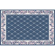 home dynamix london country blue rectangular indoor woven area rug common 8 x 10