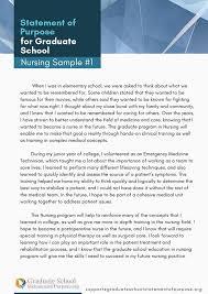 Statement Of Purpose Graduate School Example Statement Of Purpose Graduate School Examples Nursing On