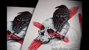 значение ворон на черепе тату смысл история факты фото эскизы
