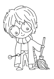 Younger children might enjoy this simplified harry potter colouring page. Harry Potter Coloring Pages