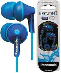 <b>Panasonic RP</b>-<b>HJE125E</b>-A BLUE Ergo Fit In-<b>Ear Headphone</b> ...