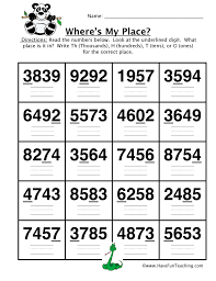 Place Value Worksheet - Thousands, Hundreds, Tens, Ones | Have Fun ...